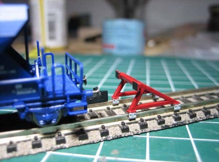 N FIXSTOP stootjuk (3 stuks) 3d printed Geverfd model
