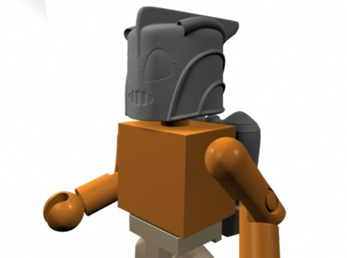 Rocketeer Helmet & Jetpack for Minimate (w/o fron 3d printed
