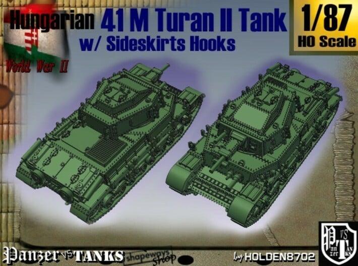 1-87 Hungarian 41M Turan II Sideskirts Hooks 3d printed