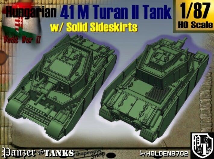 1-87 Hungarian 41M Turan II Solid Sideskirts 3d printed