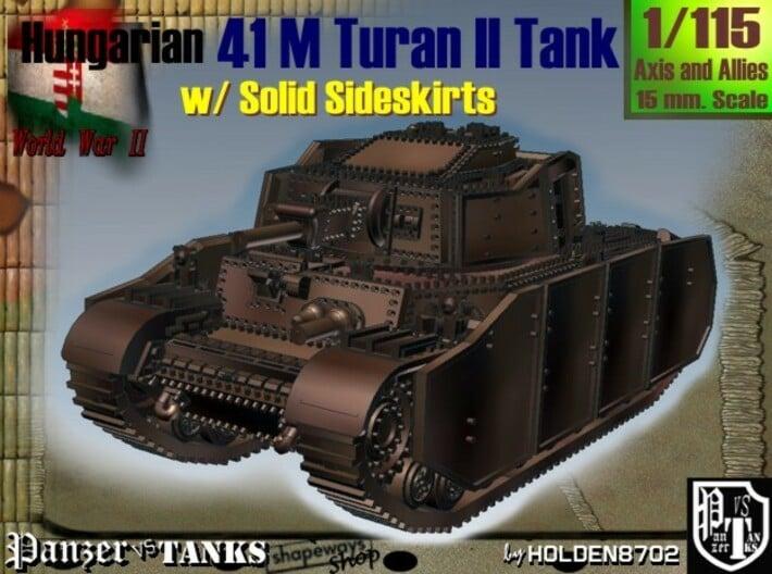 1-115 Hungarian 41M Turan II Solid Sideskirts 3d printed