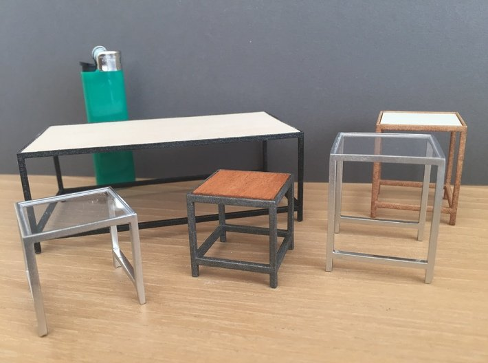 Lounge Table square, rectangular 1:12 3d printed Variations and possibilities