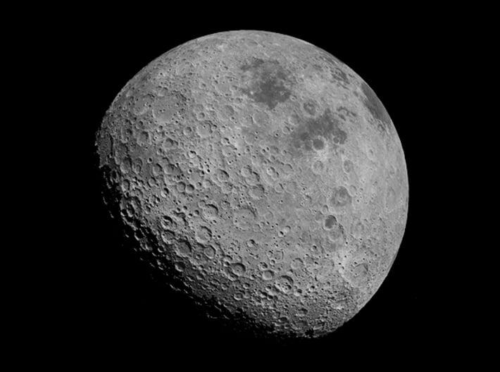 Far Side of the Moon Pendant  3d printed NASA image of the far side of the Moon