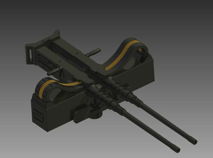 Twin Browning 50 Calibre 1/35 3d printed