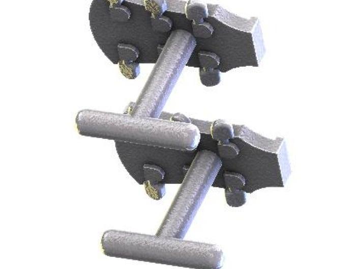 Folk guitar cufflinks 3d printed
