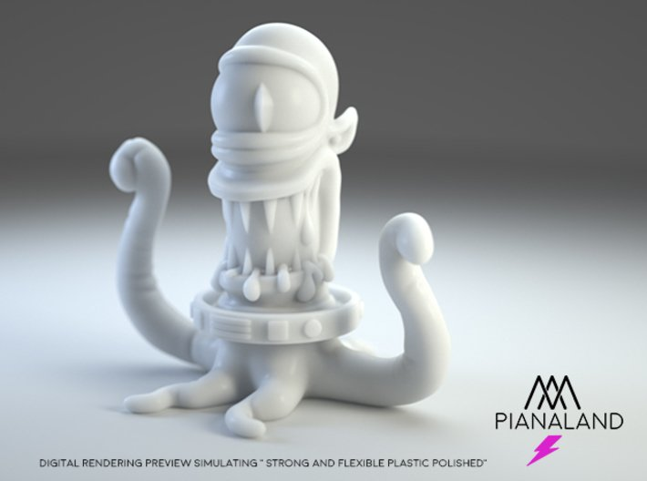 the ultimate KODOS (or KANG) Small version 3d printed strong and flexible plastic render simulation