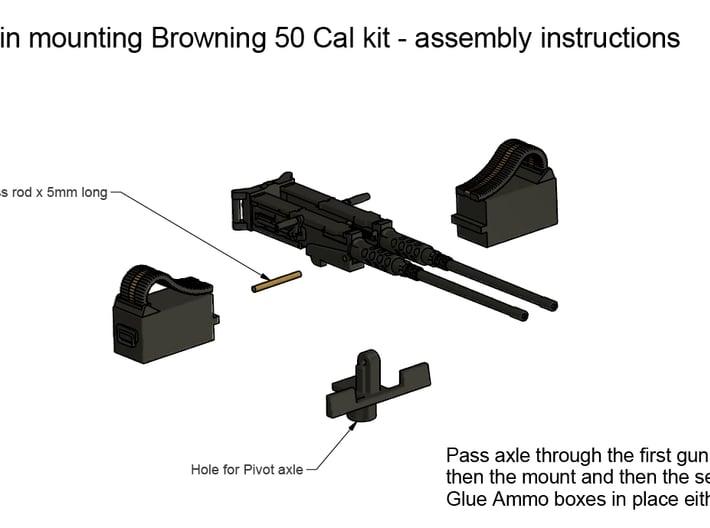 Twin Browning 50 Calibre 1/32 3d printed