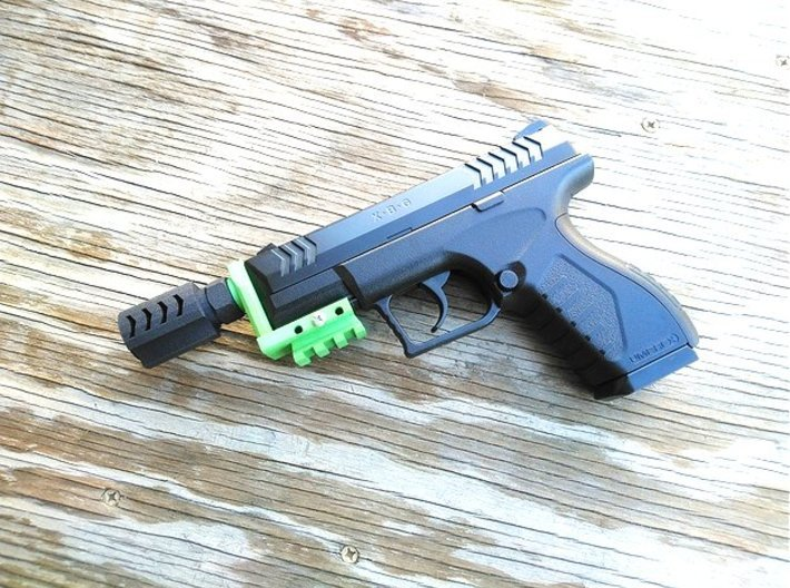 Executer Airsoft Flash Hider (14mm-) 3d printed