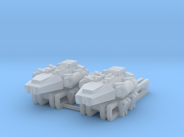 Earther Survey Scout Vessel Long Rail 3d printed