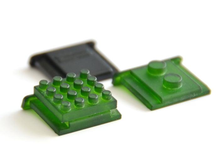 Nanobricks Hotshoe 4x4 3d printed Green Detail