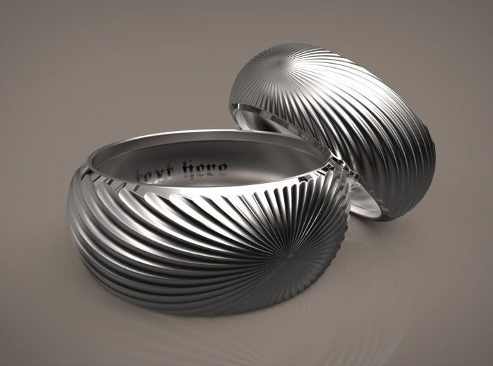 Helix surface-Gentle version (Inside diameter 16.6 3d printed