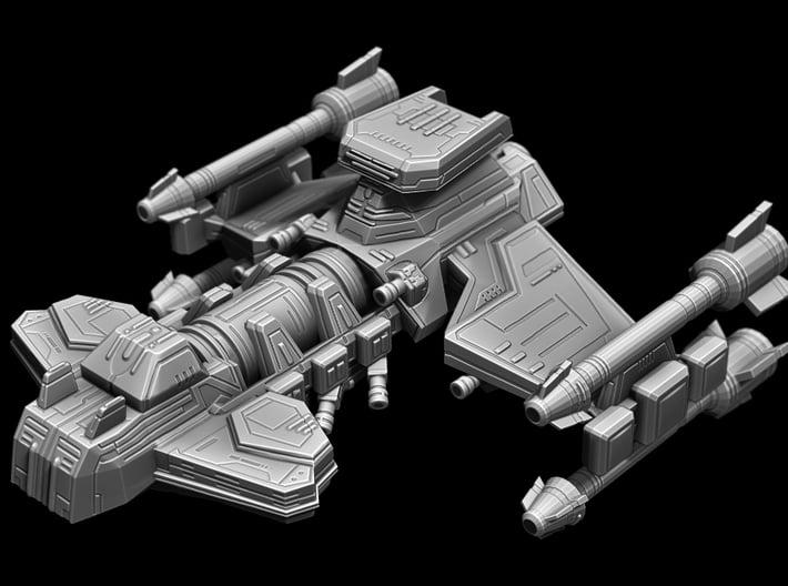 Battlecruiser 65mm long x 56mm wide x 29.5mm tall 3d printed