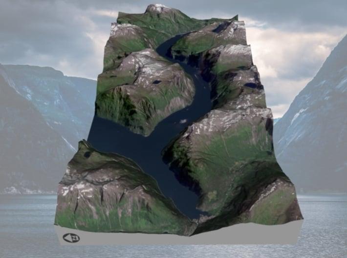 Geirangerfjord / Geirangerfjorden Map, Norway 3d printed
