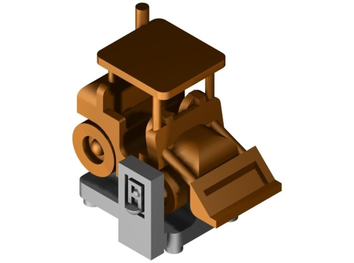 "Münzautomat ""Radlader"" 1:87 (H0 scale) 3d printed Visualisation"