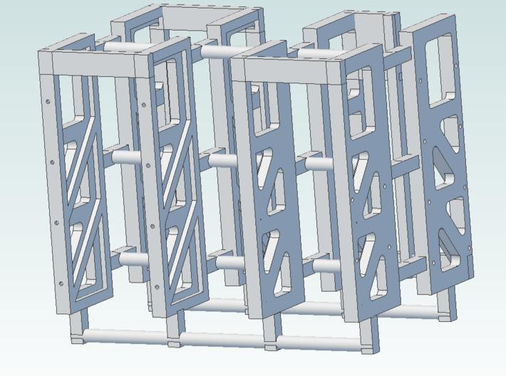 6 foot 6 inches 3W Flatcar Bulkhead General Steel 3d printed CAD Rendering