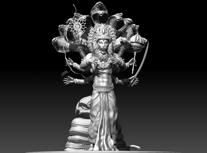 Lord Nrsimhadeva 3d printed