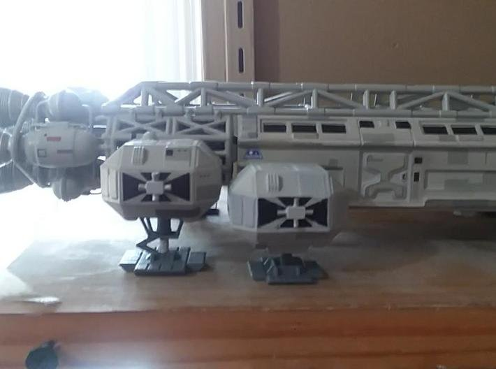 """Moongear set of four for 12"""" Eagle Kit! 3d printed Compared to kit supplied gear. Finished model by Paul Costello"""