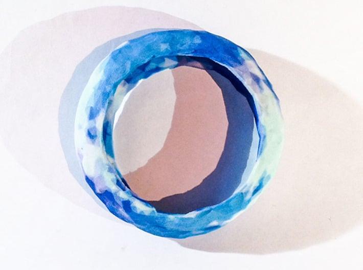 color_bangle_01_Blue_sky 3d printed