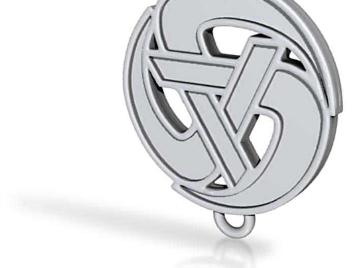 Levellers rolling A pendant 3d printed