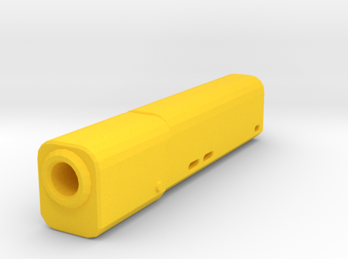 Psycho Airsoft Silencer (14mm-) 3d printed