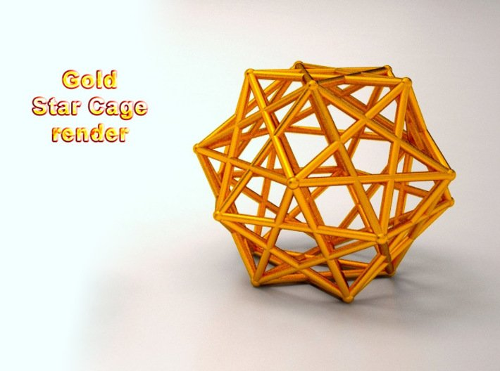 Star Cage 35mm Dodecahedral Sacred Geometry 3d printed Photos coming soon