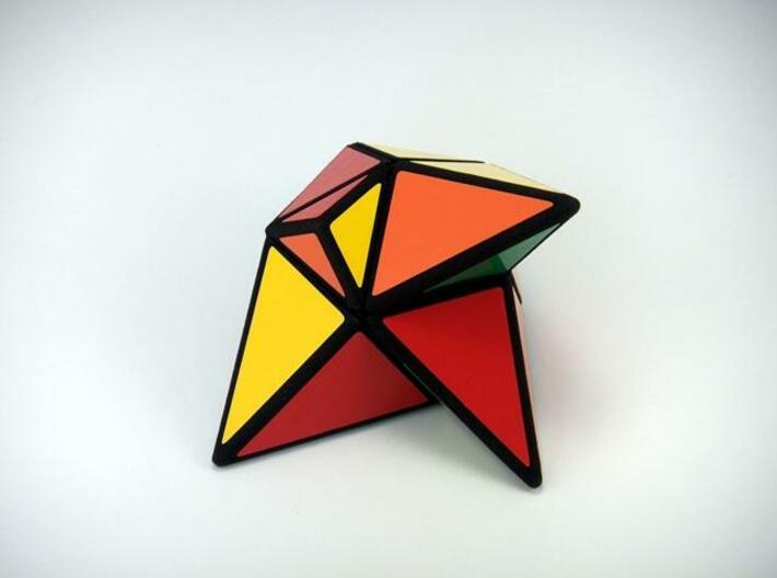 TriTangle Puzzle 3d printed Scrambled