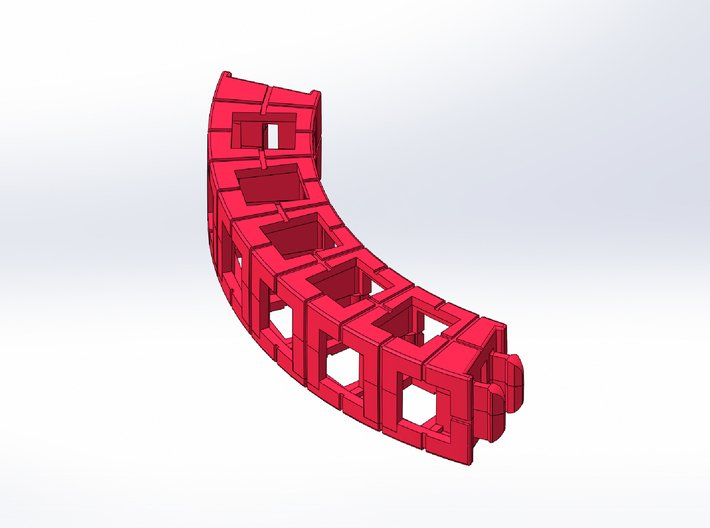 Rokenbok Small Curved Beam 3d printed