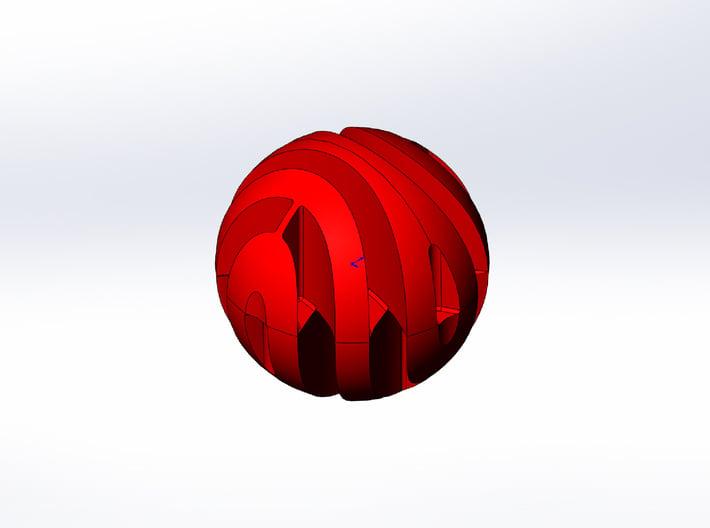 Rokenbok 16mm Red Ball 3d printed