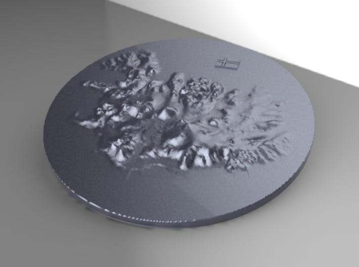 Island Terrain 3d printed