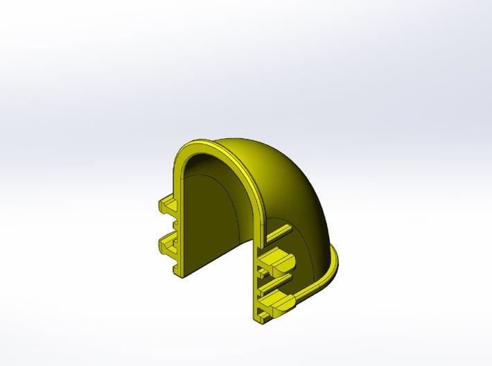 Rokenbok Quarter Turn Chute 3d printed