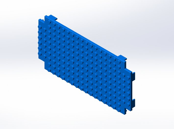Rokenbok Half Deck Plate, Studs 3d printed