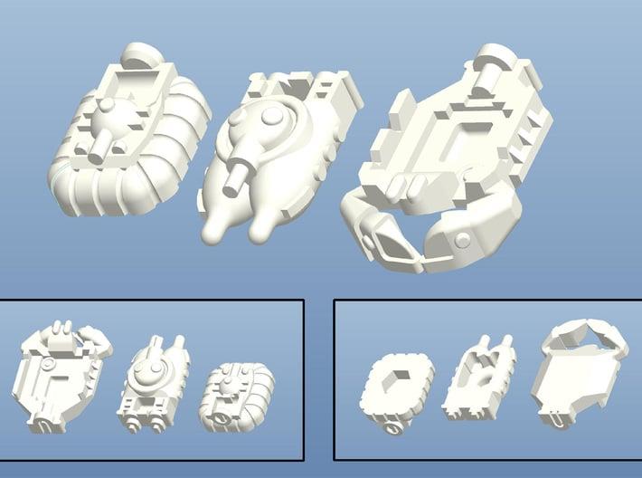 FMP Custom Minis (12 pcs) - (4 x 3 pcs) 3d printed Render of the 3 different minis