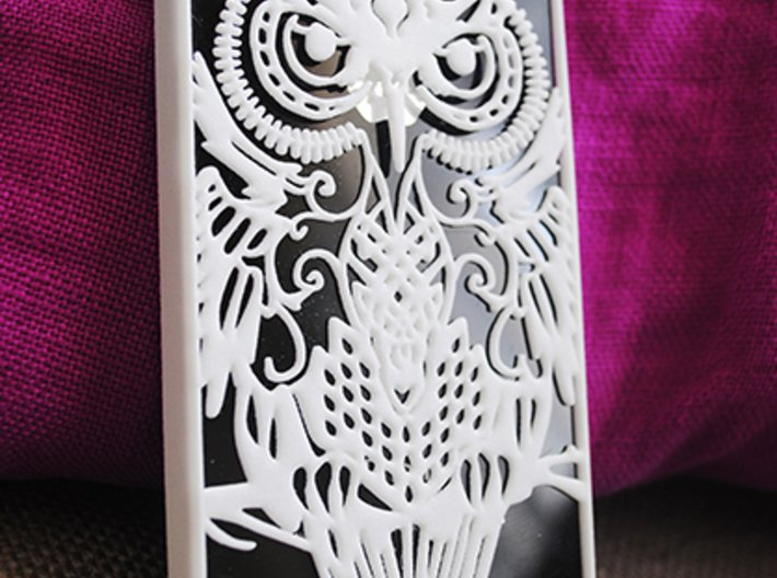 iPhone 4/4s case with owl design 3d printed