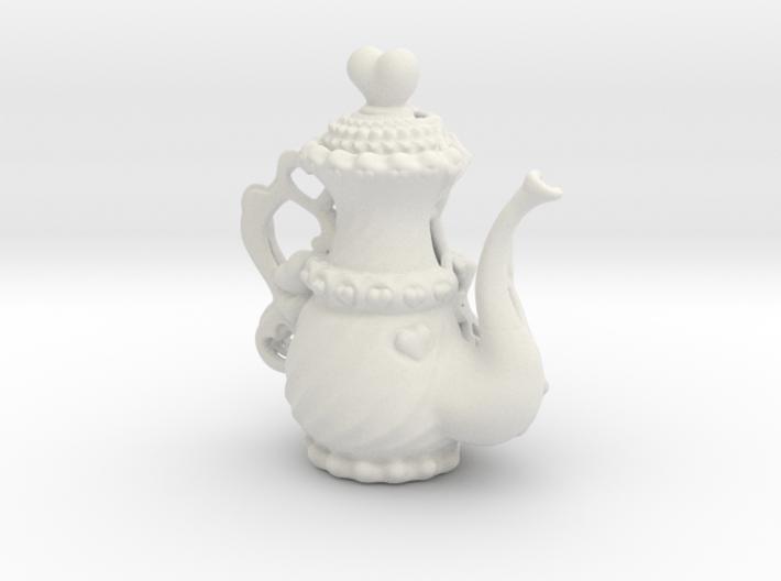 Elegant Ms Hearts Tea Pot 3d printed