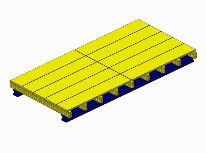H0 1:87 Schalungstisch Set 2.5 x 4.5m 3d printed