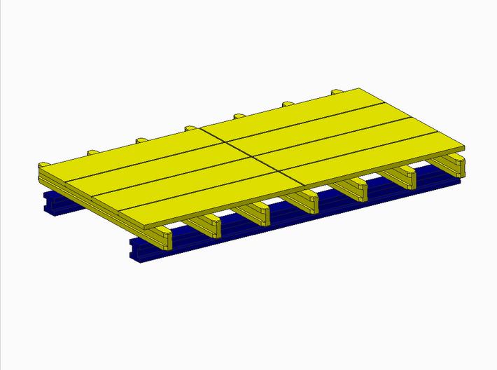 H0 1:87 Schalungstisch Set 2.0 x 4.0m 3d printed