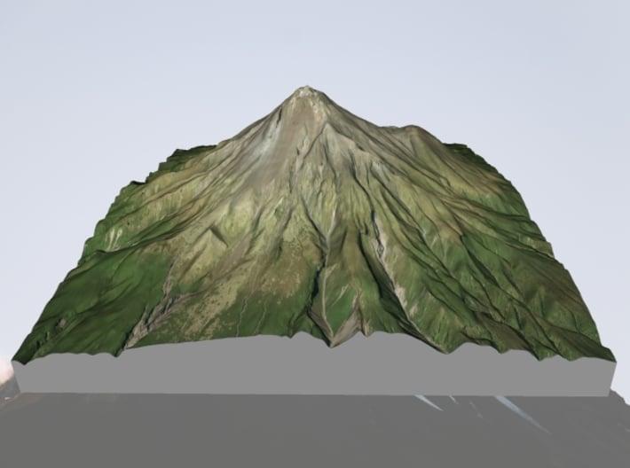 "Mt. Taranaki Map, New Zealand - 6"" 3d printed"