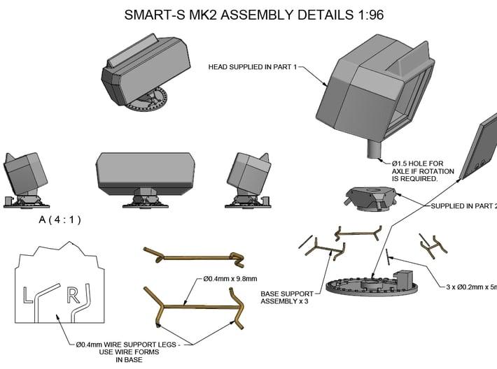 Smart-S MK2 Radar Kit - Part 2 1/96 3d printed