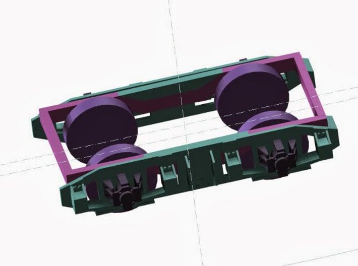 """Drehgestellblenden T1 RSE 3d printed Blenden am Drehgestell """"montiert"""""""