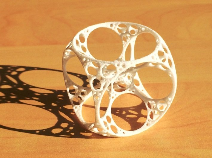 Apollonian Cube 3d printed White Strong and Flexible