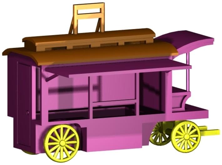 """Kassenwagen """"Kutsche"""" 1:87 (H0 scale) 3d printed Visualisation"""