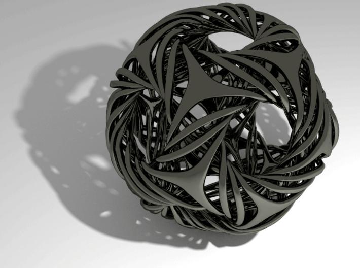 Shell Icosahedron 3d printed