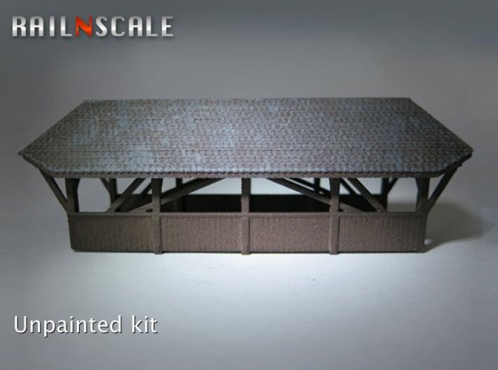 Gedeckte Brücke 80mm (N 1:160) 3d printed