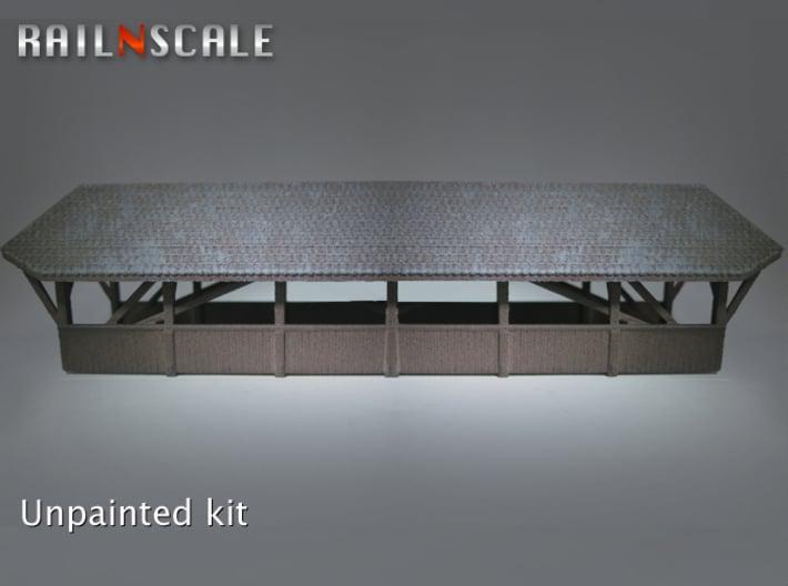Gedeckte Brücke 119mm (N 1:160) 3d printed