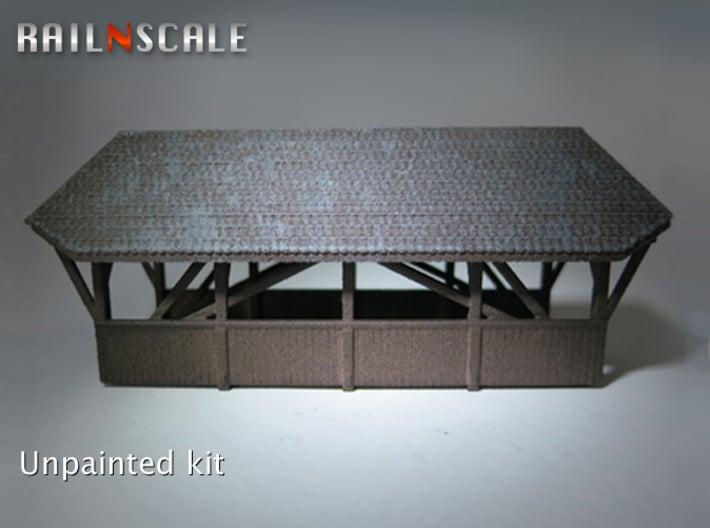 Gedeckte Brücke 68mm (N 1:160) 3d printed