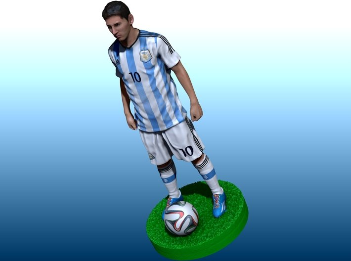 Messi world cup 2014 3d printed