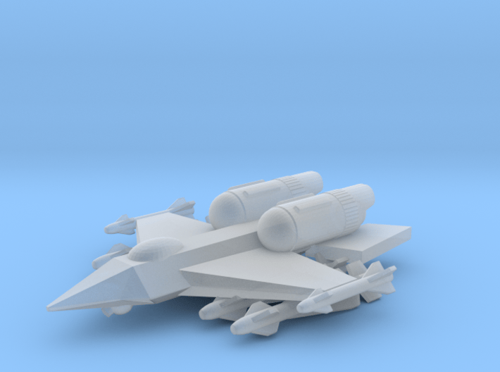 """285 Scale Federation F-15 """"Eagle"""" Fighter MGL 3d printed"""