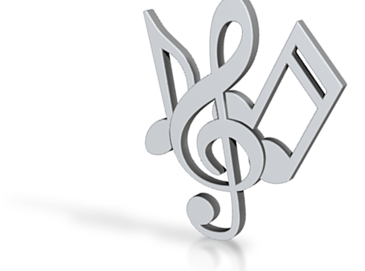 Music Necklace Charm 3d printed