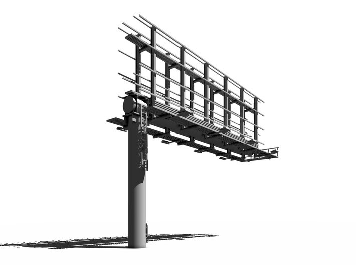 HO scale Back-to-Back Cantiliver Billboard 3d printed