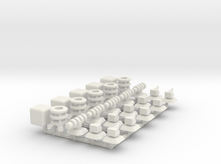 Modules 1: Turrets, Engine, Cube 3d printed
